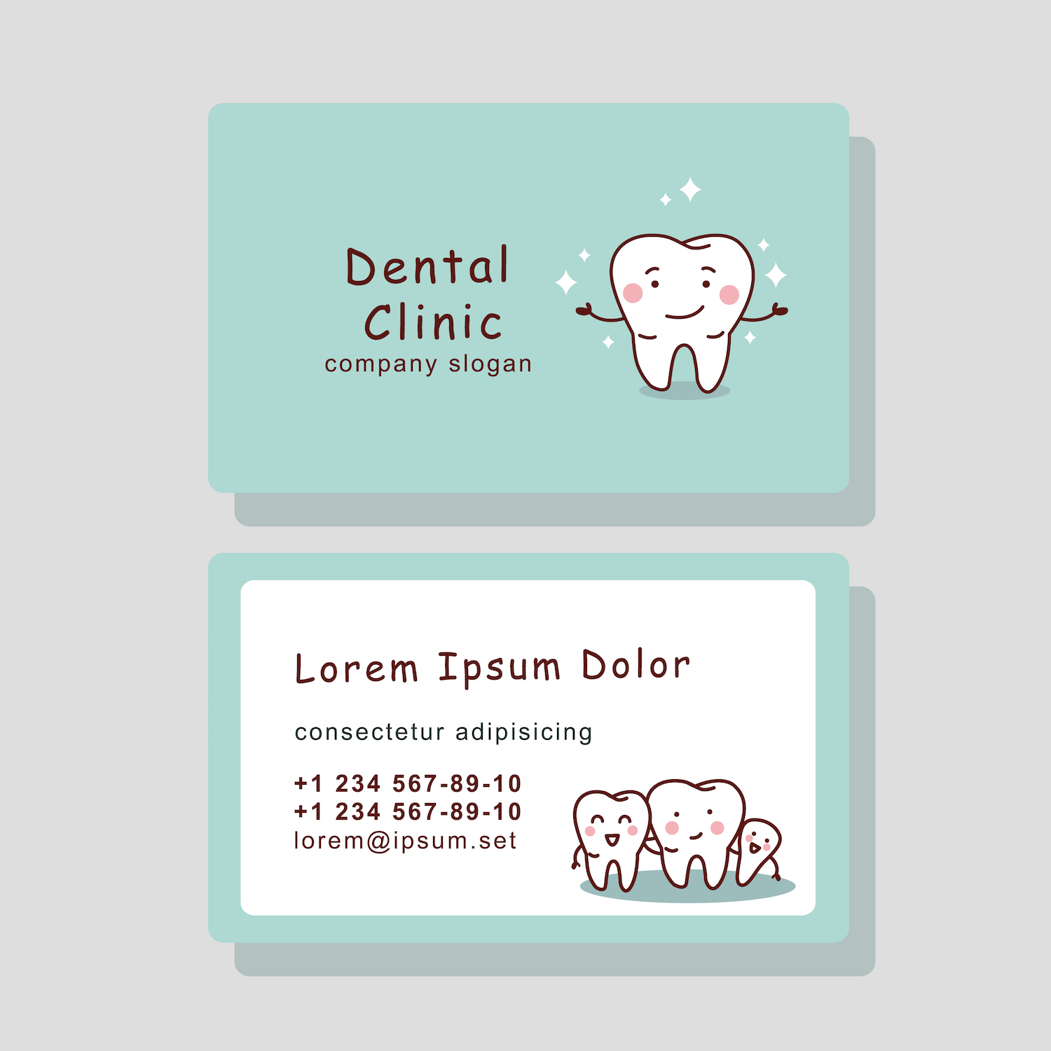 Dental Business Card Design | brandinglosangeles.com