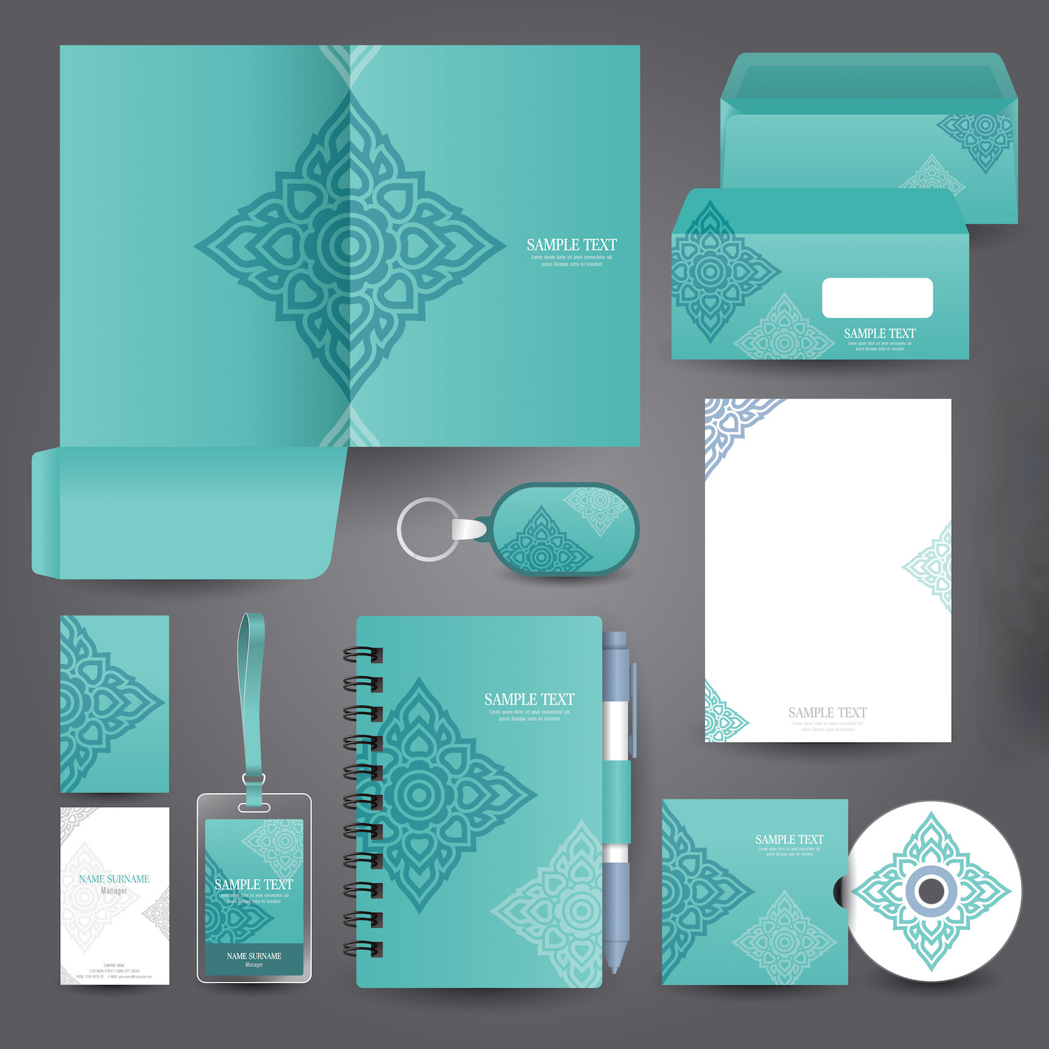 los angeles fashion stationery design