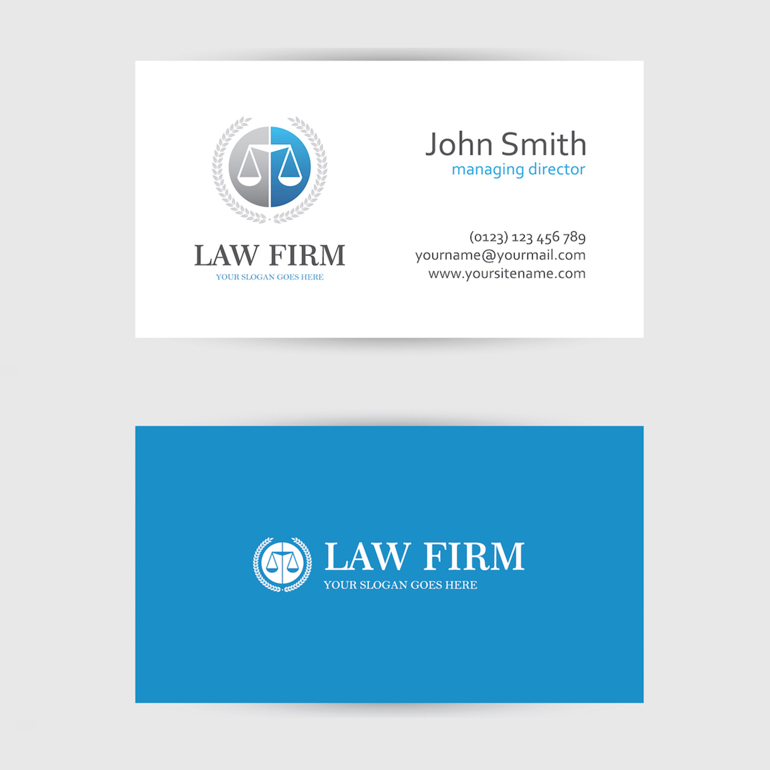Business card design custom business card card design los angeles law firm business card design magicingreecefo Gallery