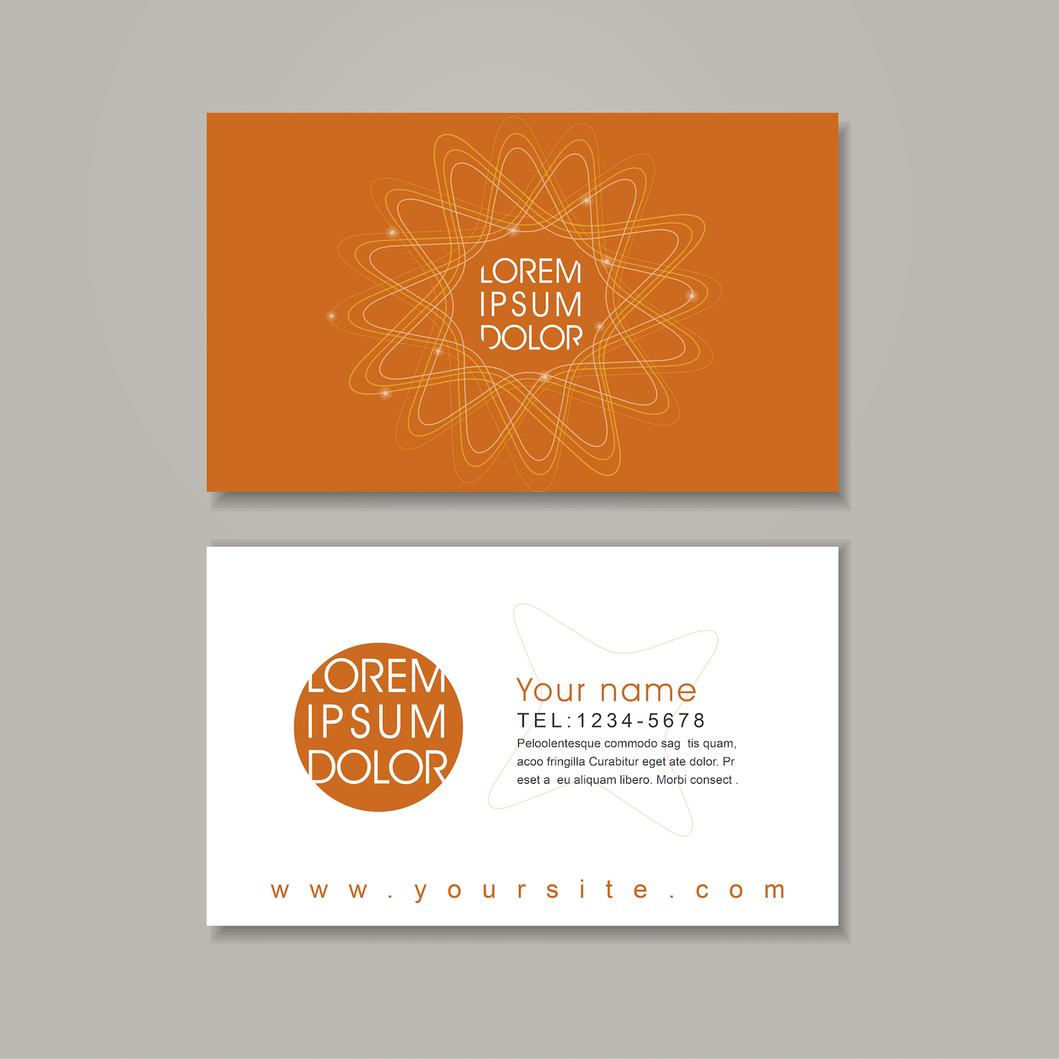 Custom Business Card Template
