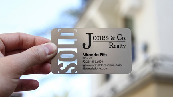 Real estate business card design